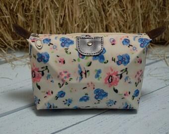 floral makeup/ cosmetic bag