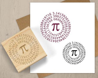 PI Stamp, Math Gift, Math Geek Stamp, Math Teacher Stamp, Math Symbol Stamp, Pi Day, Math Lover, Math Notebook Stamp, Scrabook Stamp 089