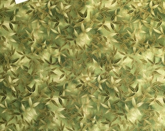 Kaufman Imperial Fusions Kyoto (#10829) Leaf Print Fabric, Leaf Print Fabric, Oriental Leaf Fabric, Oriental Fabric