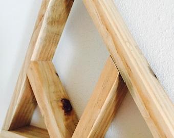 triangle shelf / bohemian / reclaimed wood