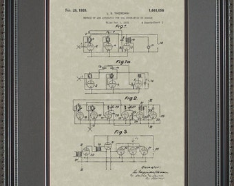 Synthesizer Keyboard Patent Art Music Musician Player Gift T1058