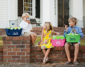 Easter Baskets,Personalized Easter Totes,Easter Mini Market Tote,Kids Personalized Easter Baskets,Kids Easter Baskets