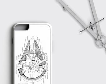 Millennium Falcon iPhone 8 Case Star Wars iPhone 7 Plus Case - Han Solo Chewbacca iPhone 6 Plus Star Wars iPhone SE Case iPhone X Case