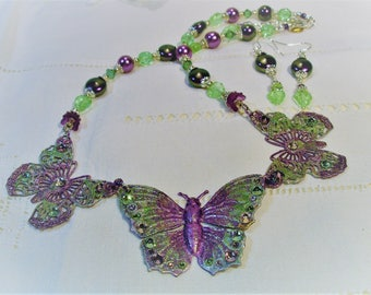 Shimmering Butterfly Necklace