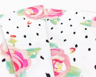50s Floral, fabric, Fabric By the Yard, apparel fabrics, 100% cotton