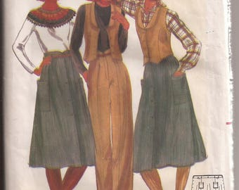 Butterick 5596 Misses Dress, Size 8, Vintage 1970's