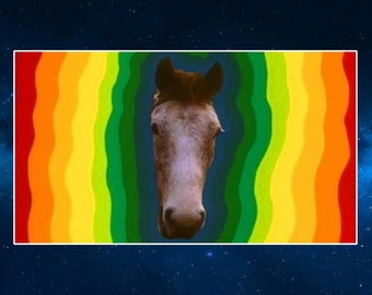 My Lovely Horse Fridge Magnet. Inspired by Father Ted. Psychedelic Art