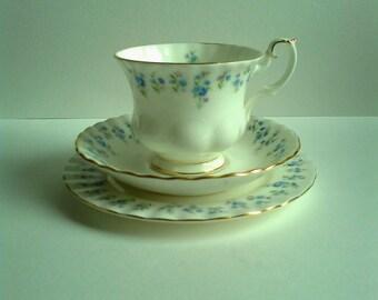 Royal Albert Memory Lane teacup trio