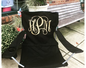 Charming Monogrammed Folding Chair Glitter Monogrammed Chair & Monogrammed Chair - Home Design Ideas and Pictures