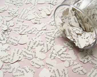Beauty and The Beast Book Confetti Hearts - Choose from amounts of 200 to 1400 - Wedding Party Table Decoration