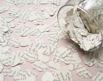 Beauty and The Beast Book Confetti Hearts - Choose from amounts of 200 to 2000 - Wedding Party Table Decoration