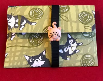 Cat money wallet | gift card holder | envelope | charity | unique