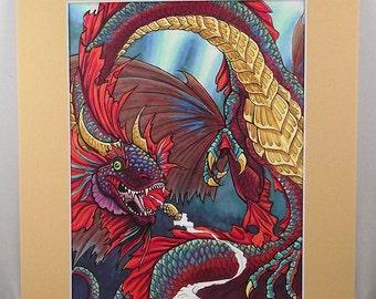 Betta Fish Dragon Original Wall Art