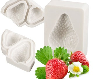 3 Pcs Strawberry Mold,Strawberry silicone mold
