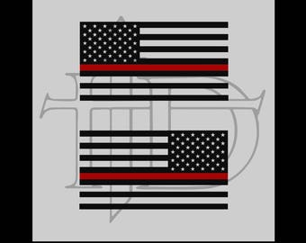 Thin red Line (US Flag)