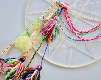 Dreamcatcher / yarn tassels / kids' room decor / nursery decor / baby shower decoration /party decorations // wall art // playroom