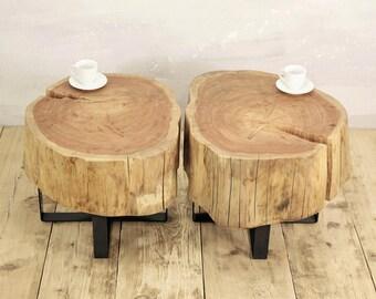 Tisch um baumstamm. latest esstisch aus einem baumstamm sagenhaft