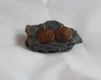 Etched Copper Earrings (082017-035)
