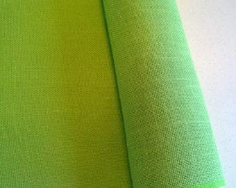 "14"" x 120"" Lime Burlap Table Runner (Serged edges)"