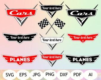 Disney Cars Logo SVG, Disney Cars Logo Clipart, Disney Cars Logo Cut Files, Silhouette, Cricut, Instant Download