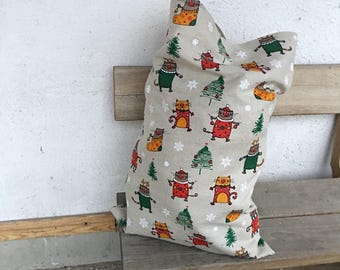 Christmas sack with cats