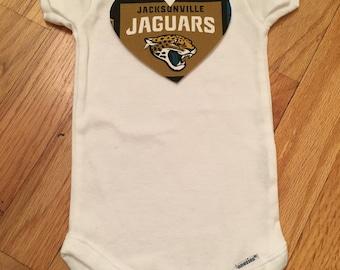 Jacksonville Jaguars Heart Onesie