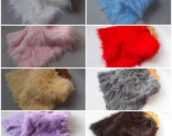 "Photo Prop Long Pile Faux Fur, Fabric, Basket Stuffer, Basket Filler, 20"" x 20"", 50cm x 50cm, 8 Colours, RTS"