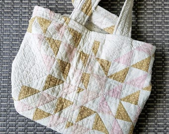 Ecofriendly Quilt Patchwork Tote Shoulder Bag Farmers Market Shopping Tote #2