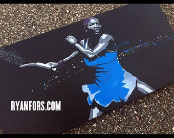 Serena Williams Stencil Painting