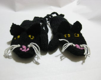 Kitten Mittens for 2-3 year old, fun toddler mittens, kids animal mittens