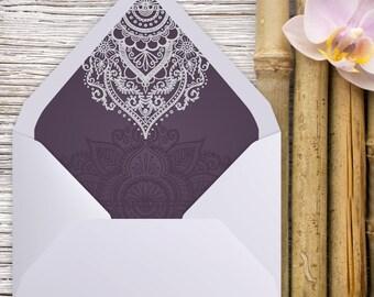 A7 Envelope Liner, Euro Flap, Indian Wedding, Envelope liner, printable envelope, printable liner, liner template, diy printable, liners