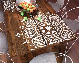 Mandala Style Stencil - pochoir meubles - peinture murale pochoirs