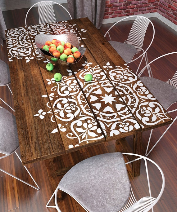 Mandala Style Stencil Furniture Stencil Wall Painting