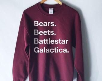 The Office - Bears. Beets. Battlestar Galactica Sweatshirt Jumper - The Office Sweater - The Office Sweatshirt - Dwight Schrute Sweatshirt