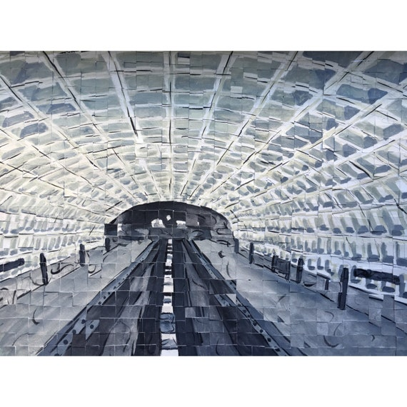 "Washington DC- DC Metro - Architectural Art: 12""x16"" Original Painting"