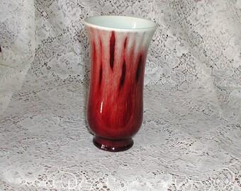 Catalina Pottery Oxblood Vase - 1930 - Vintage California