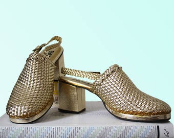70'S Disco Shoes Gold (M) enutE