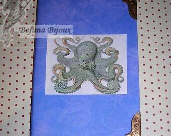 Octopus steampunk notebook
