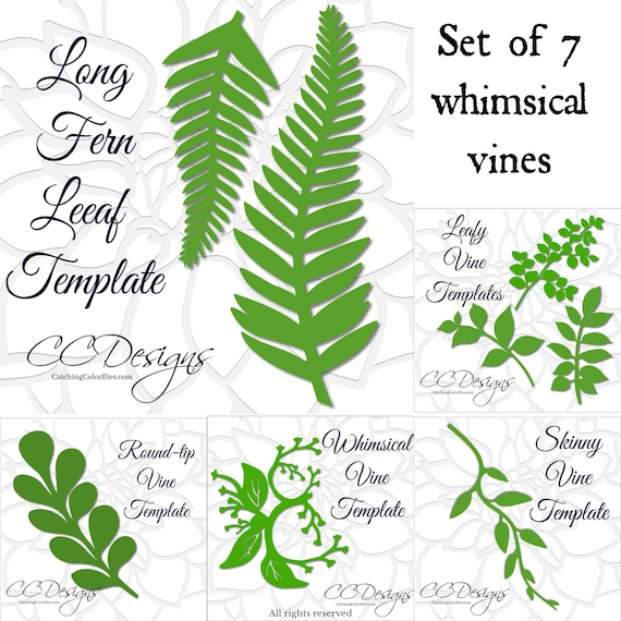 Leaf And Vine Templates Printable PDF Leaf Template Flower