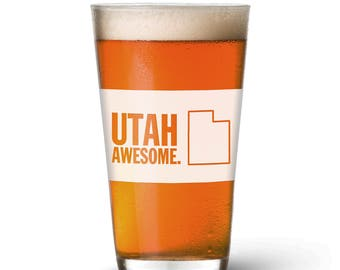 Utah Awesome Pint Glass
