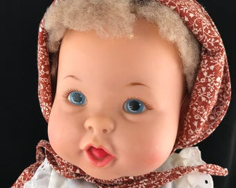 1973 Ideal Toy Corp, Rub-A-Dub Baby Doll. Complete with outfit.