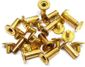 "10 Pack 1/2"" Brass Chicago Screws"