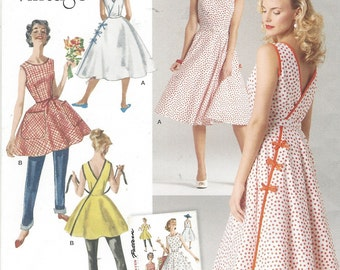 1950s Womens Wrap Dress in 2 Lengths Re-Issued Pattern Simplicity Sewing Pattern 8085 Size 14 16 18 20 22 Bust 36 38 40 42 44 UnCut
