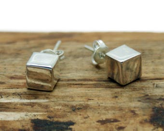 Sterling Silver Cube Earrings (CRE-004)