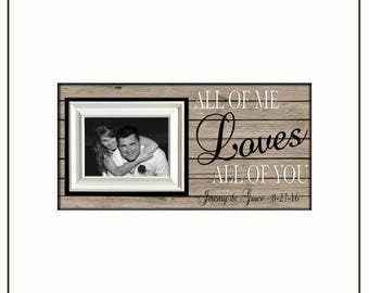 Anniversary Gift for Her   Vow Renewal Gift   Personalized Anniversary Picture Frame   Gift from Groom to Bride   Engagement Frame