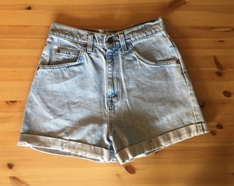 Vtg 90s High-Waist Levis 954 Light Wash Jean Shorts