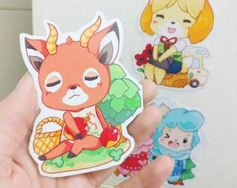 Animal crossing pocket Camp - fridge magnets chibi