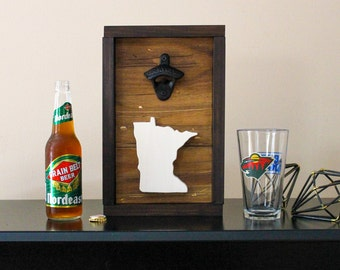 Minnesota Light Wooden Bottle Opener