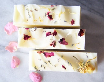 Lavender & Geranium Rose Hip Soap - Vegan Soap - All Natural - Organic Soap - Palm Oil Free - Natural Skin Care - Cold Process Soap -Artisan