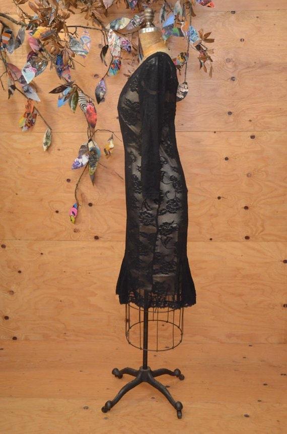 1990's Gabbana Dress amp; Lace Black Vintage Dolce Designer TUwT8qH